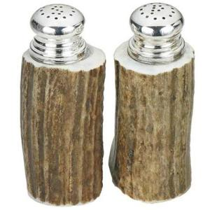 antler salt and pepper shakers